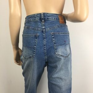 Vintage Jag Cropped High Waisted Mom Jeans 10